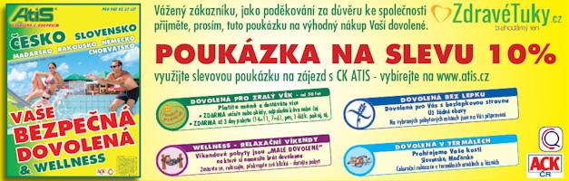 Sleva na dovolenou od CK ATIS